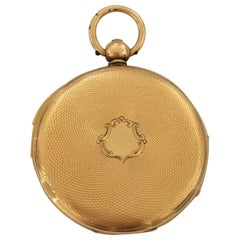 Fine Antique 18 Karat Gold Quarter Repeater Small Pocket Watch Signed Rotherhams