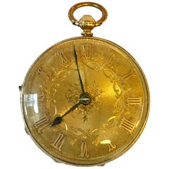 Fine Antique 18 Karat Yellow Gold Fob Watch Victorian Period