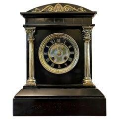 Fine Antique 19th Century Marble Mantel Clock