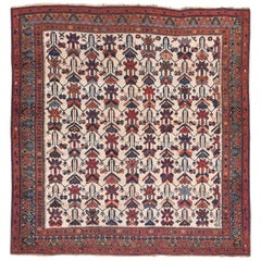 Fine Antique Afshar Persian Rug, Hand Knotted, circa 1890