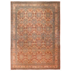 Fine Antique All Over Design Persian Tabriz Rug. Size: 12 ft 6 in x 17 ft 10 in