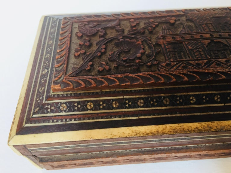 Fine Antique Anglo Indian Mother of Pearl Inlay Box For Sale 8