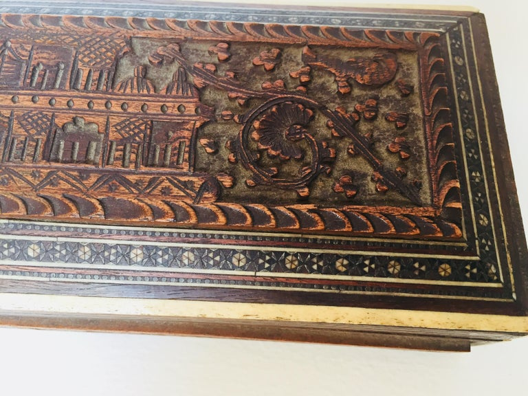 Fine Antique Anglo Indian Mother of Pearl Inlay Box For Sale 10