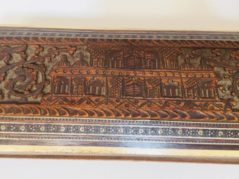 Islamic Fine Antique Anglo Indian Mother of Pearl Inlay Box For Sale