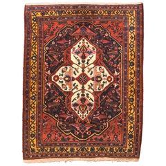 Fine Antique Bakhtiari Persian Rug, Hand Knotted, circa 1910
