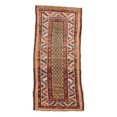 Fine Antique Bakshayesh Tribal Persian Runner Rug, Hand Knotted, circa 1890