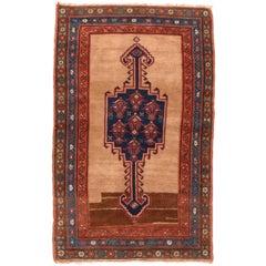 Fine Antique Beige Persian Bakshayesh Rug, Hand Knotted, circa 1900