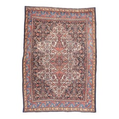 Fine Antique Bibikabad Persian Tribal Rug, Hand Knotted, circa 1910