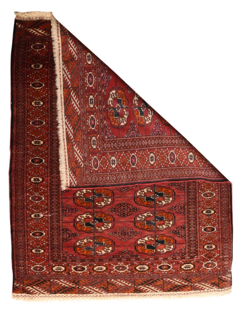 Fine Antique Bokhara Russian Rug, Hand Knotted, circa 1910 In Excellent Condition For Sale In Chevy Chase, MD