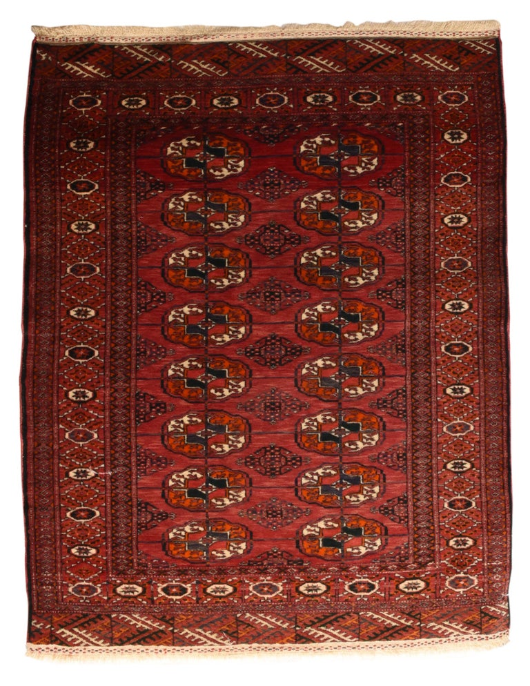 Hand-Knotted Fine Antique Bokhara Russian Rug, Hand Knotted, circa 1910 For Sale