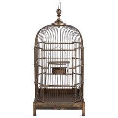 Fine Antique Brass Bird Cage