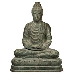 Fine Antique Bronze Meditation Buddha, Dhyana Mudra, 19th Century