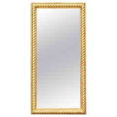 Fine Antique Carved, Gessoed And Gilt Mirror