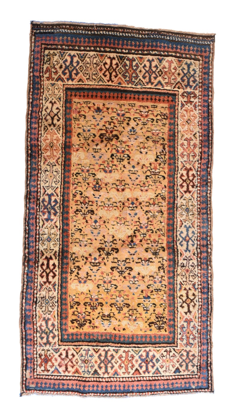 Russian Fine Antique Caucasian Rug, Hand Knotted, circa 1900 For Sale