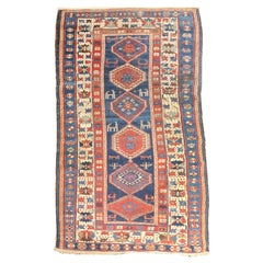 Fine Antique Caucasian Shirvan Rug, Hand Knotted, circa 1890