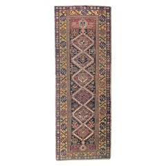 Fine Antique Caucasian Shriven Runner Rug, Hand Knotted, circa 1890