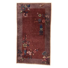 Fine Antique Chinese Nickel Rug, Hand Knotted, circa 1920