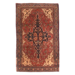 Fine Antique Farahan Persian Rug, Hand Knotted, circa 1890