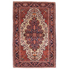 Fine Antique Farahan Sarouk Persian Rug, Hand Knotted, circa 1890