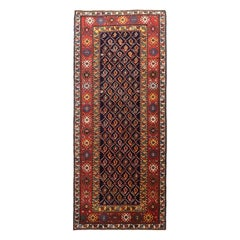 Fine Antique Farahan Sarouk Persian Small Runner Rug, Hand Knotted, circa 1890