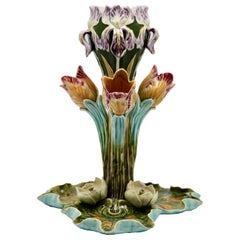Fine Antique French Majolica Centerpiece Frie Onnaing, circa 1900s