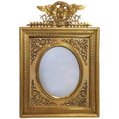 Fine Antique French Napoleon III Gold Bronze Frame, circa 1880s-1890s