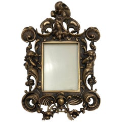 Fine Antique French Neoclassical Louis XV Style Gilt Bronze Picture Frame
