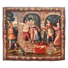 Antique French Tapestry Don Quixote
