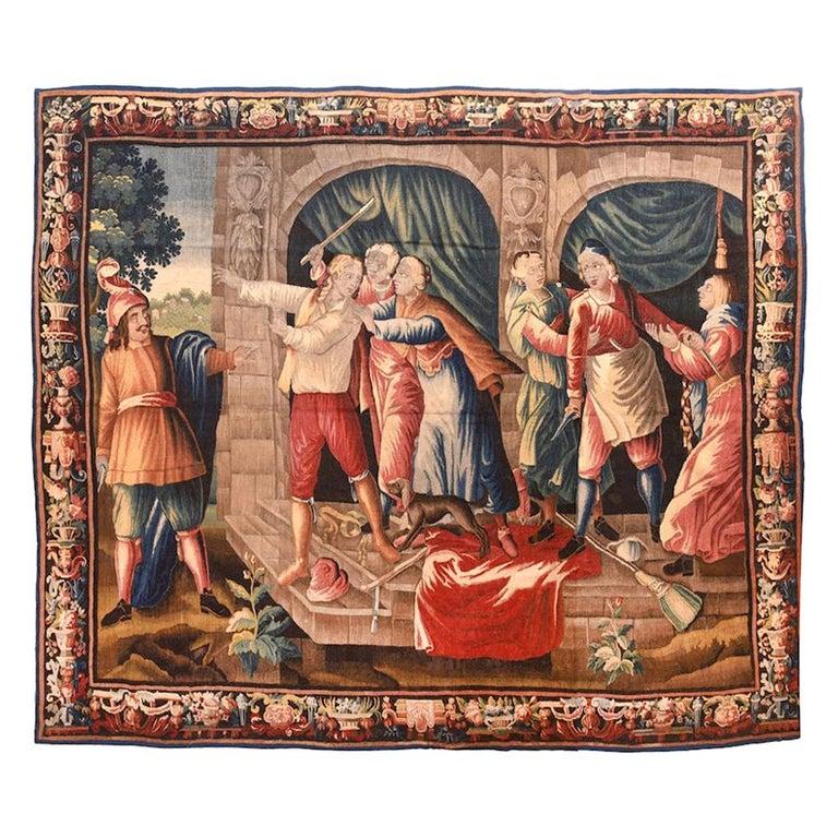 Fine Antique French Tapestry 'Don Quixote', circa 17th Century For Sale