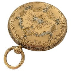 Fine Antique Gold-Plated Key-Wind Pocket Watch