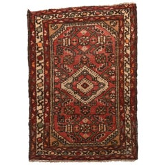 Fine Antique Hamedan Persian Rug, Hand Knotted, circa 1920