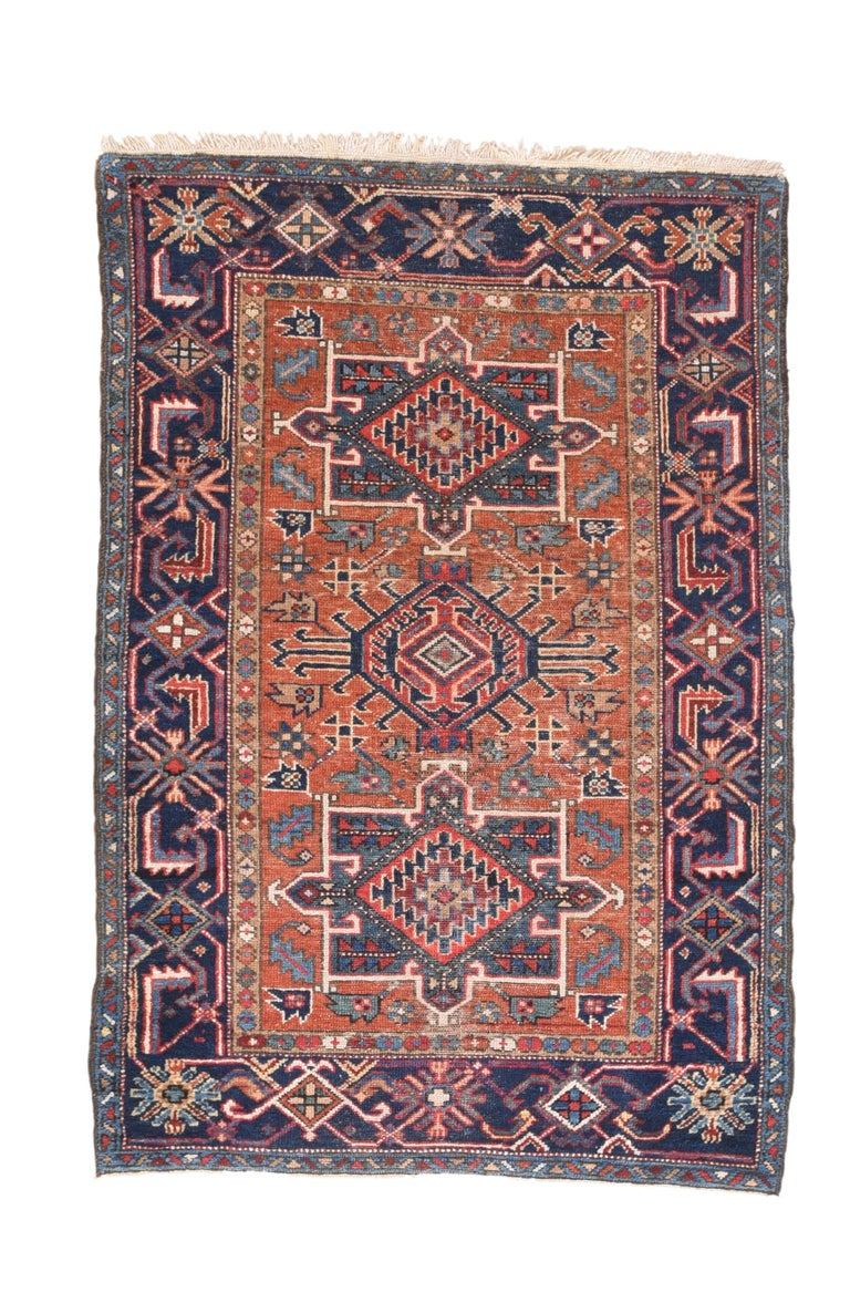 Hand-Knotted Fine Antique Heriz Persian Rug, Hand Knotted, circa 1890 For Sale