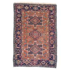 Fine Antique Heriz Persian Rug, Hand Knotted, circa 1890