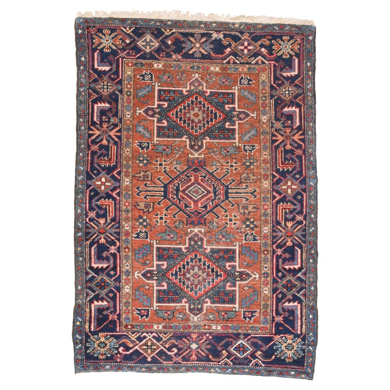 Fine Antique Heriz Persian Rug, Hand Knotted, circa 1890 For Sale