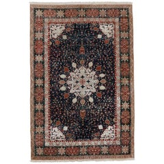 Fine Antique Indian Agra Rug with Ardabil Design