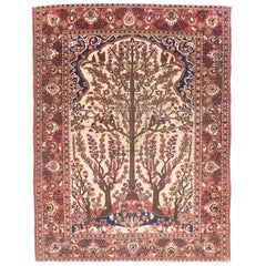 Fine Antique Isfahan Persian Rug, Hand Knotted, circa 1890
