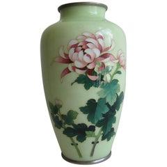 Fine Antique Japanese Cloisonne Enamel Vase by Master Artist Ando Jubei
