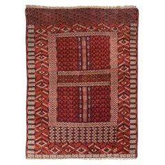 Fine Antique Kachli Bukhara Russian Rug, Hand Knotted, circa 1890