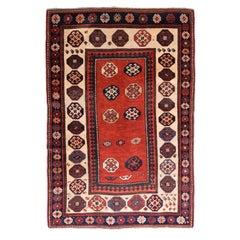 Fine Antique Kazak Russain Rug, Hand Knotted, circa 1890