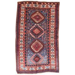 Fine Antique Kazak Russian Rug, Hand Knotted, circa 1890