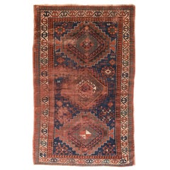 Fine Antique Kazak Russian Rug, Hand Knotted, circa 1910