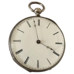 Fine Antique Key-Wind Silver Pocket Watch
