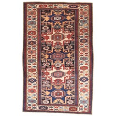 Fine Antique Kuba Russian Rug, Hand Knotted, circa 1890