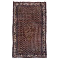 Fine Antique Large Persian Bibikabad Carpet, Small Center Medallion, circa 1920s