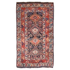 Fine Antique Lori Tribal Persian Rug, Hand Knotted, circa 1890