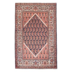 Fine Antique Malayer Persian Rug, Hand Knotted, circa 1920