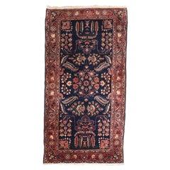 Fine Antique Mohajeran Sarouk Persian Rug, Hand Knotted, circa 1910