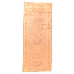 Fine Antique Oushak 'Ushak' Turkish Runner Rug, Hand Knotted, circa 1920
