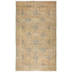 "Fine Antique Oversized Lattice Garden Persian Kerman Rug. Size: 13' 4"" x 25' 3"""