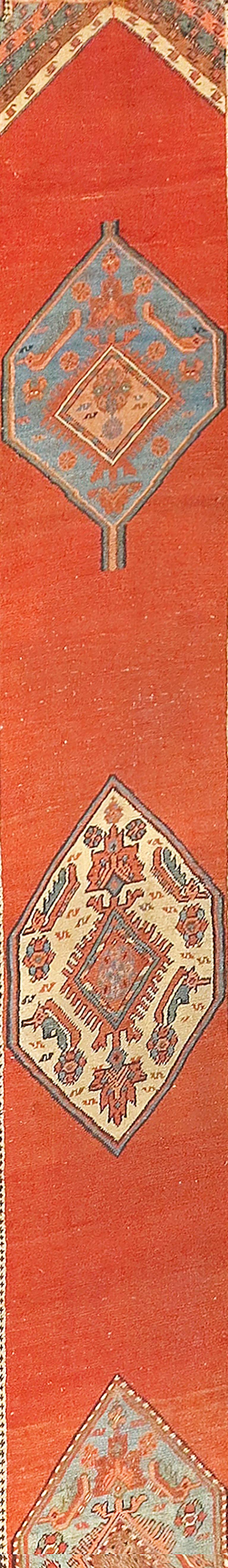 Bakshaish Fine Antique Persian Bakshayesh Runner Rug, Hand Knotted, circa 1890 For Sale